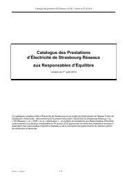 Catalogue des prestations aux RE - ESR: électricité de strasbourg ...
