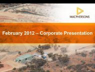 February 2012 – Corporate Presentation - MacPhersons Resources ...