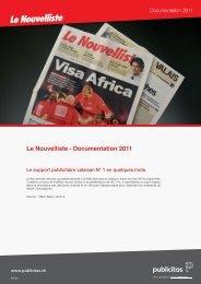 Documentation 2011 - Le Nouvelliste – Publicité Presse Internet ...