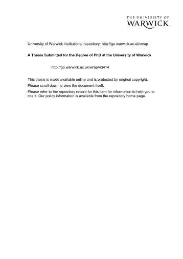 Streptomyces - WRAP: Warwick Research Archive Portal - University ...