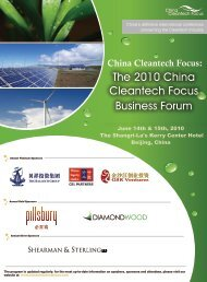 The 2010 China Cleantech Focus Business Forum - NEEC