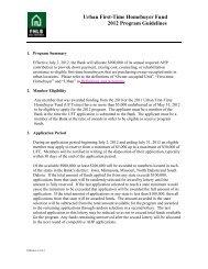 Urban First-Time Homebuyer Fund 2012 Program Guidelines