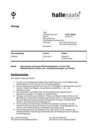 Gemeinsamer Antrag der SPD-Stadtratsfraktion und der CDU ...