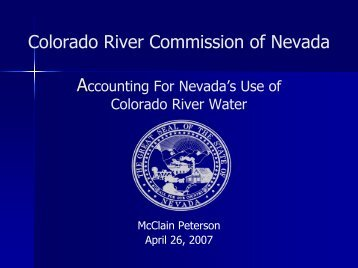 Return Flow Credits - Colorado River Commission of Nevada - State ...