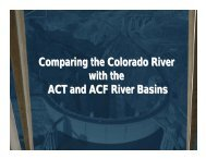 Comparing the Colorado River with the ACT and ACF River Basins