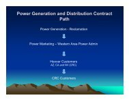 Power Generation and Distribution Contract Path - Colorado River ...