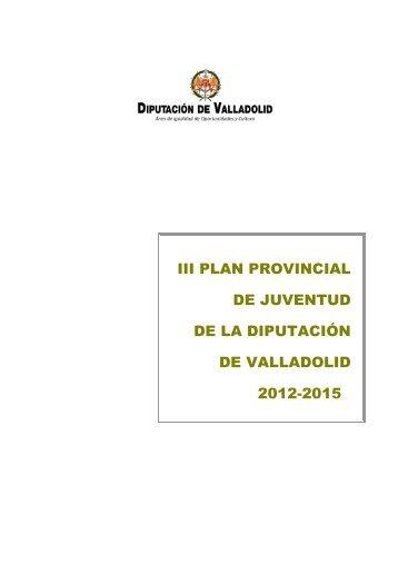 III PLAN JUVENTUD def - Diputación de Valladolid