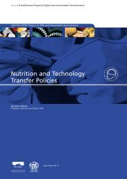 Nutrition and Technology Transfer Policies - IPRsonline.org