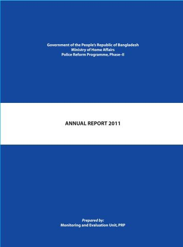 ANNUAL REPORT 2011 - Police Reform Programme