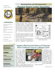 Pinedale Region Angler Newsletter - Wyoming Game & Fish ...