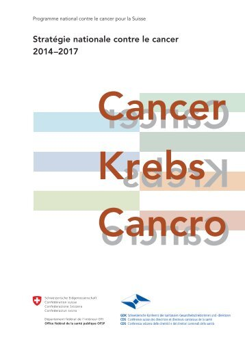 Stratégie nationale contre le cancer