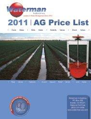 price list - Waterman Industries