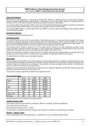 BNP Paribas L1 Real Estate Securities Europe