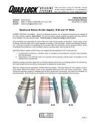 Press Release - Quad-Lock Building Systems
