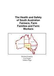 The Health and Safety of South Australian Farmers, Farm Families ...