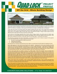 ICF Project Off the Grid - Quad-Lock Building Systems