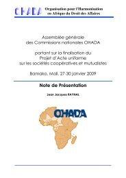 Note de Présentation - ACP Business Climate