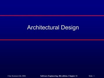 Architectural Design - COW :: Ceng On the Web