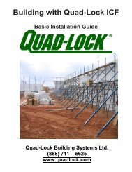 Illustrated Installation Guide - Quad-Lock Building Systems