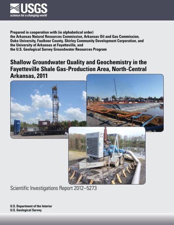 USGS - Fayetteville Shale Groundwater Study - Arkansas Oil and ...