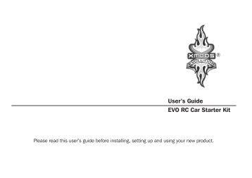 User's Guide EVO RC Car Starter Kit