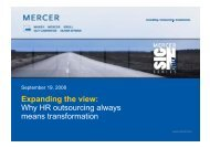 Why HR outsourcing always means transformation - Mercer ...