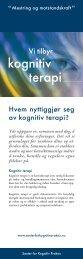 kognitiv terapi - Senter for Kognitiv Praksis