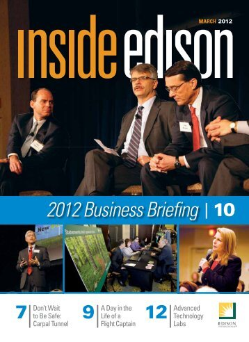 2012 Business Briefing 10 - Inside Edison - Edison International