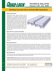 Quad-Deck Technical Bulletin - Quad-Lock Building Systems