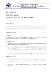 BY-LAW No. 9 - ISRM