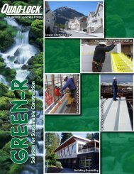 GREEN-R Brochure - Quad-Lock Building Systems