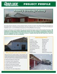 Poultry Facility - Quad-Lock Building Systems
