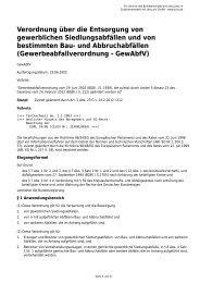 Verordnung über die Entsorgung von gewerblichen ... - AGVU
