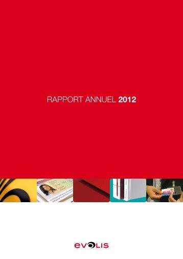 RAPPORT ANNUEL 2012 - Evolis