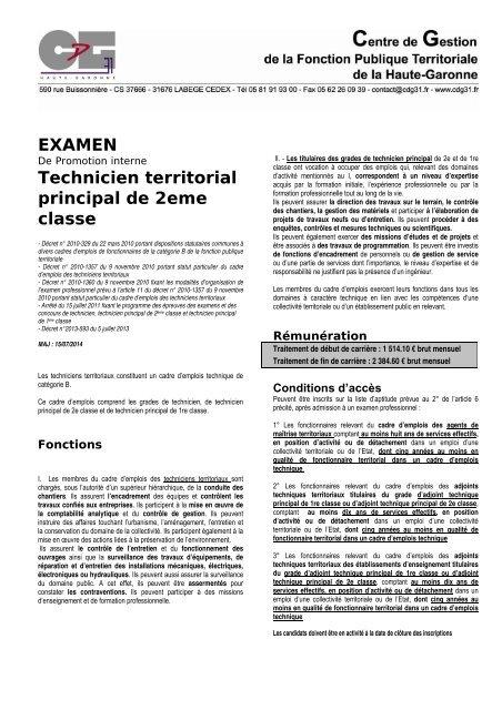 763b5a768cc EXAMEN Technicien territorial principal de 2eme classe - Centre de ...