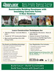 ICF Construction Basics - Quad-Lock Building Systems