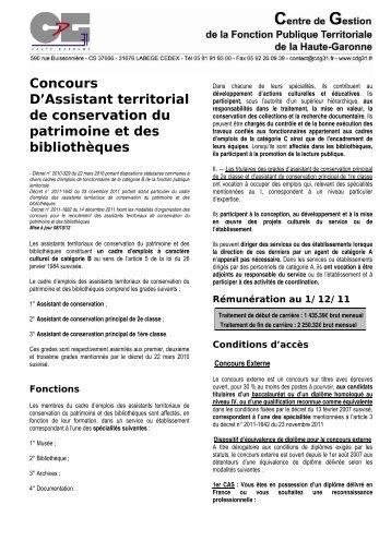 concours adjoint territorial du patrimoine de 1 u00c3 u00a8re classe