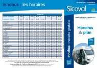 Horaires - Plan - Sicoval