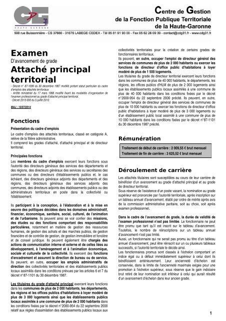 Examen Centre De Gestion De La Fonction Publique Territoriale