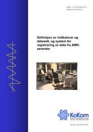Definisjon av indikatorer og datasett, og system for ... - KoKom