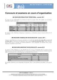 Concours et examens en cours d'organisation - Centre de gestion ...