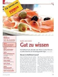 Bio-Basiswissen: Wurst und Fleisch (Schrot&Korn 4/2008)