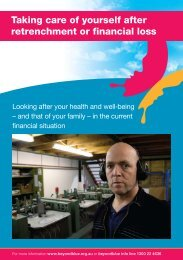 Taking care of yourself after retrenchment or financial loss - FarmPoint