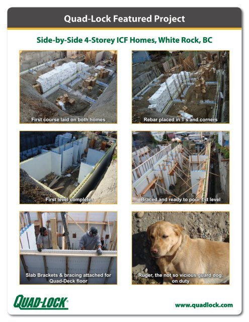 Quad-Lock Featured Project Side-by-Side 4-Storey ICF Homes ...
