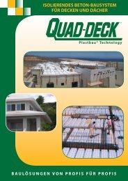 Quad-Deck Isolierendes Betonbausystem für Decken und Dächer