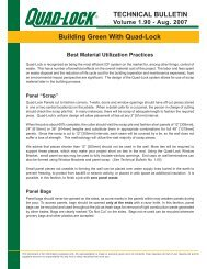 Best Material Utilization Practices - Quad-Lock Building Systems