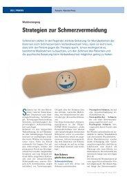 Strategien zur Schmerzvermeidung - Werner Sellmer