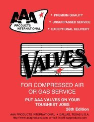 FOR COMPRESSED AIR OR GAS SERVICE - AAA Products ...