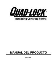 MANUAL DEL PRODUCTO - Quad-Lock Building Systems