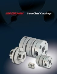Zero-Max ServoClass Couplings - Zero-Max, Inc.